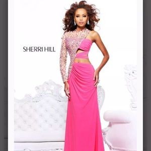 Sheree hill prom dress with cut outs